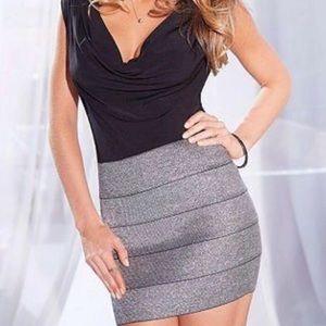 NWT express metallic gray bandage skirt